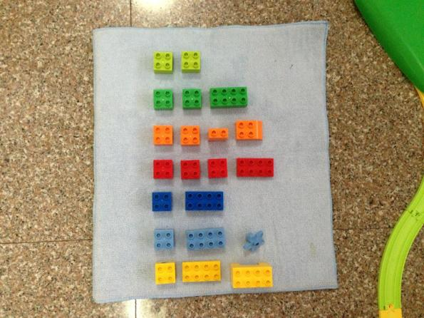 Color sorting - lego